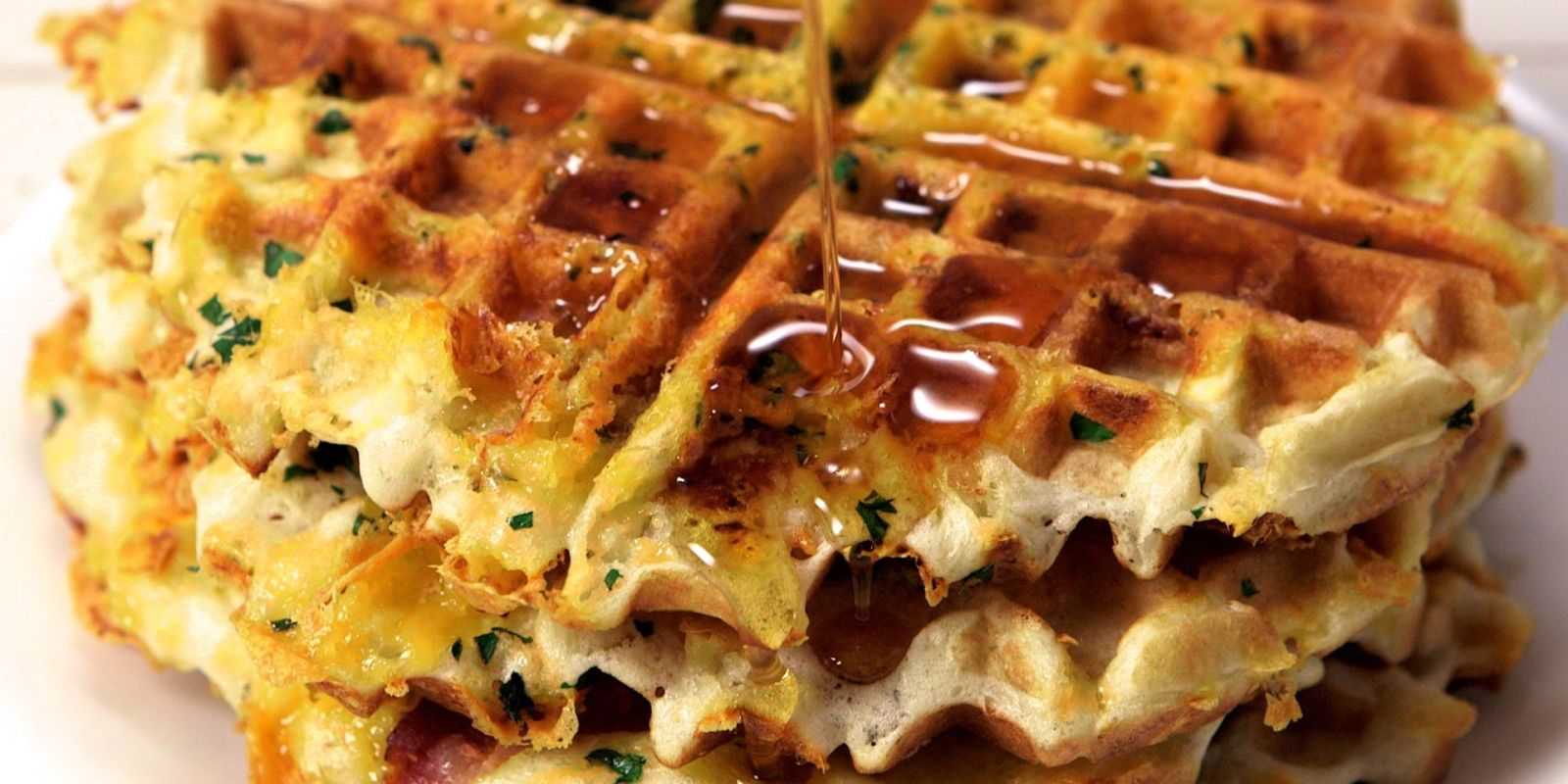 Bacon, Egg, And Cheese Stuffed Waffles