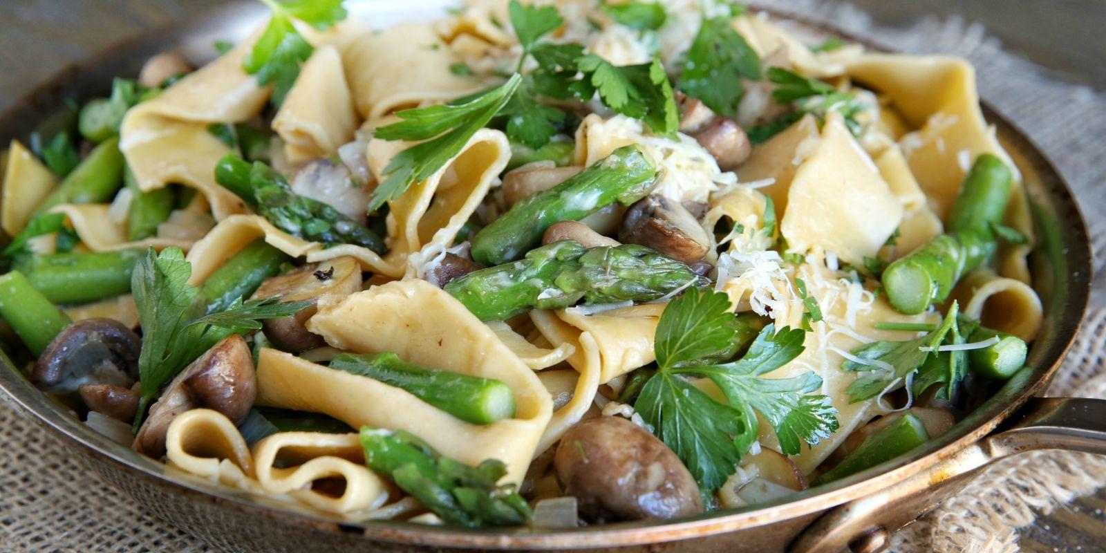 Spring Asparagus Pasta Recipe - How To Make Spring ...