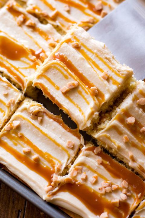 Salted Caramel Sheet Cake Recipe