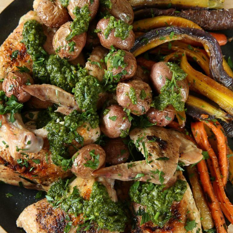 Best Roast Chicken With Chimichurri Recipe