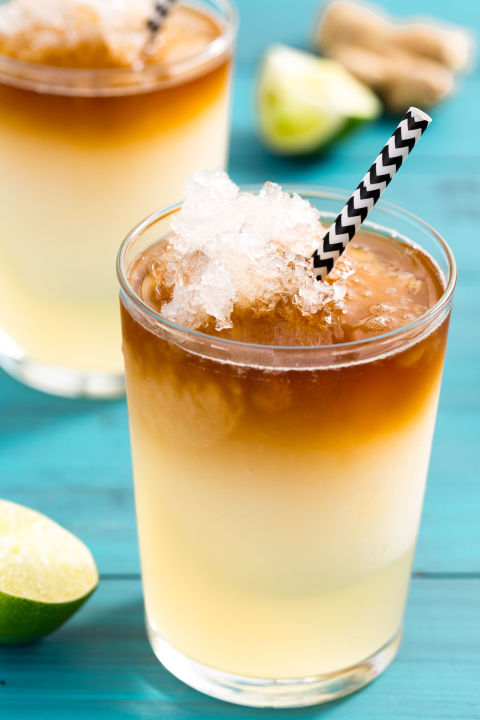 Spicy ginger beer shines in this grown-up slushie. Get the recipe from Delish.