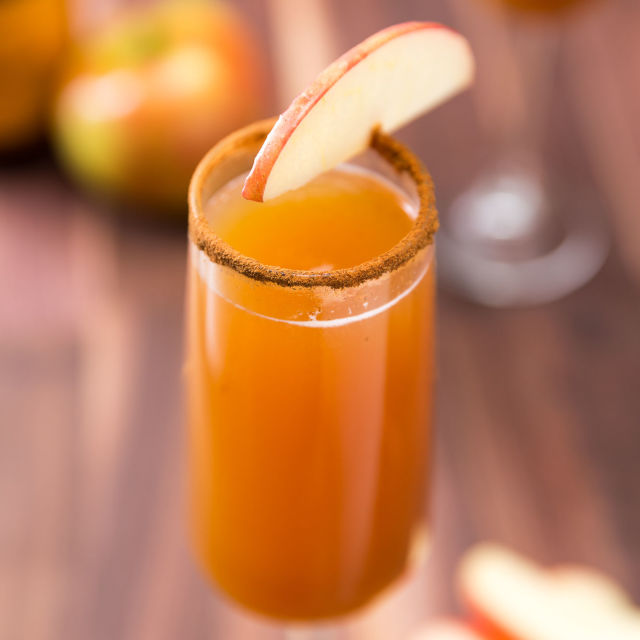Fall Cocktails Apple Cider Mimosa