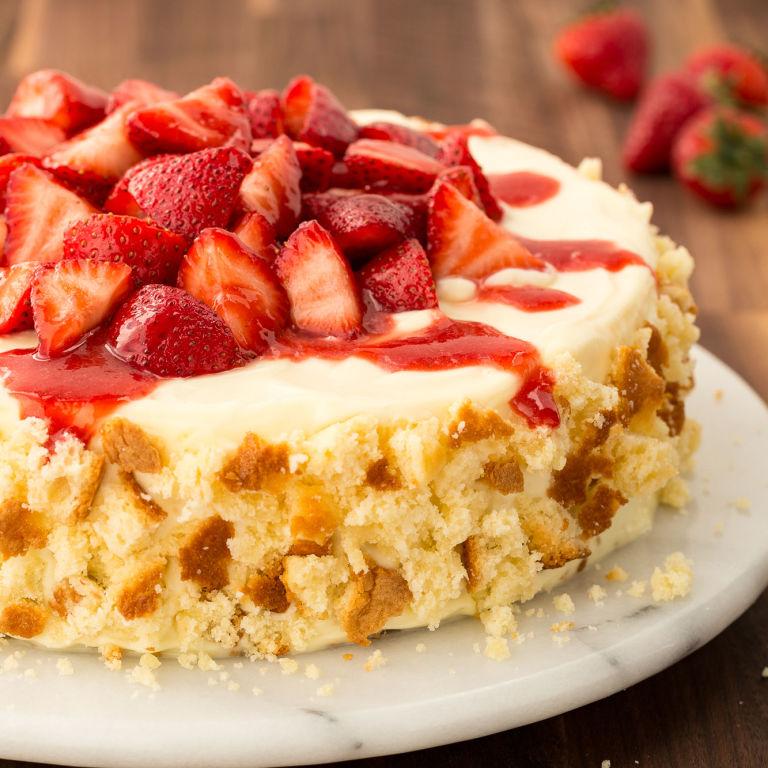 Strawberry Cheesecake Recipe: Best Strawberry Shortcake Cheesecake