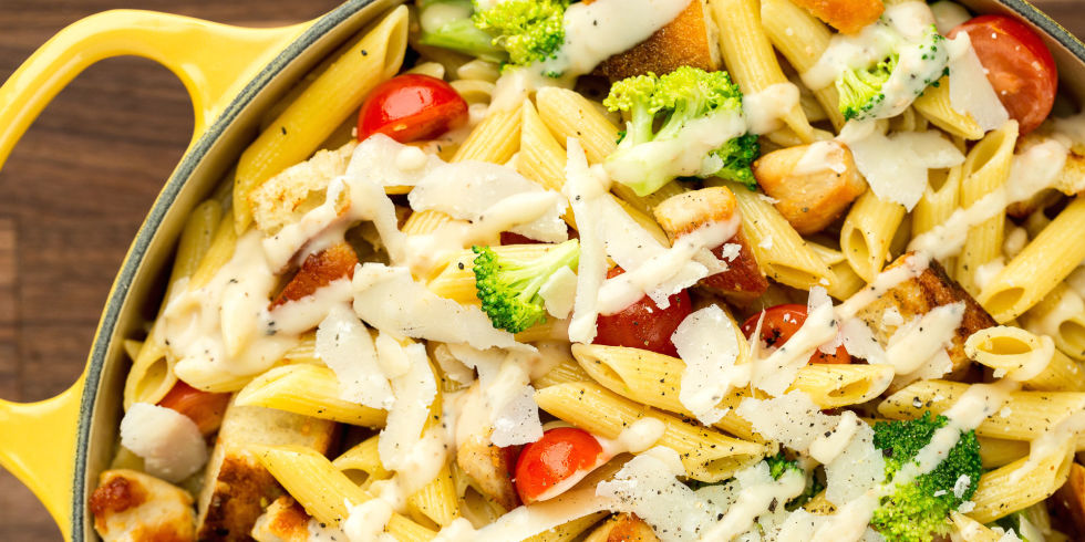 how to make chicken tikka pasta salad