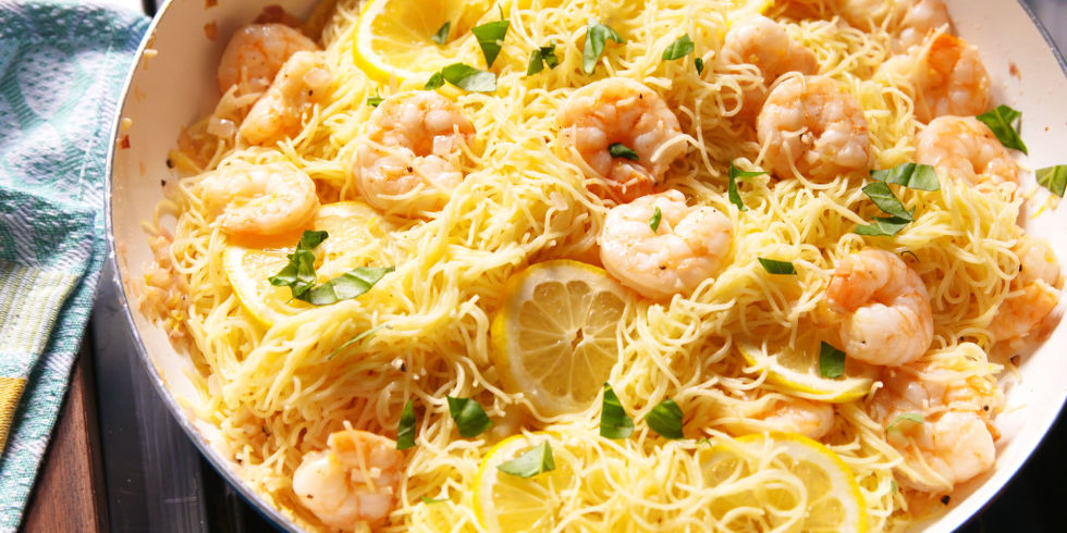 Angel hair pasta w shrimp recipes