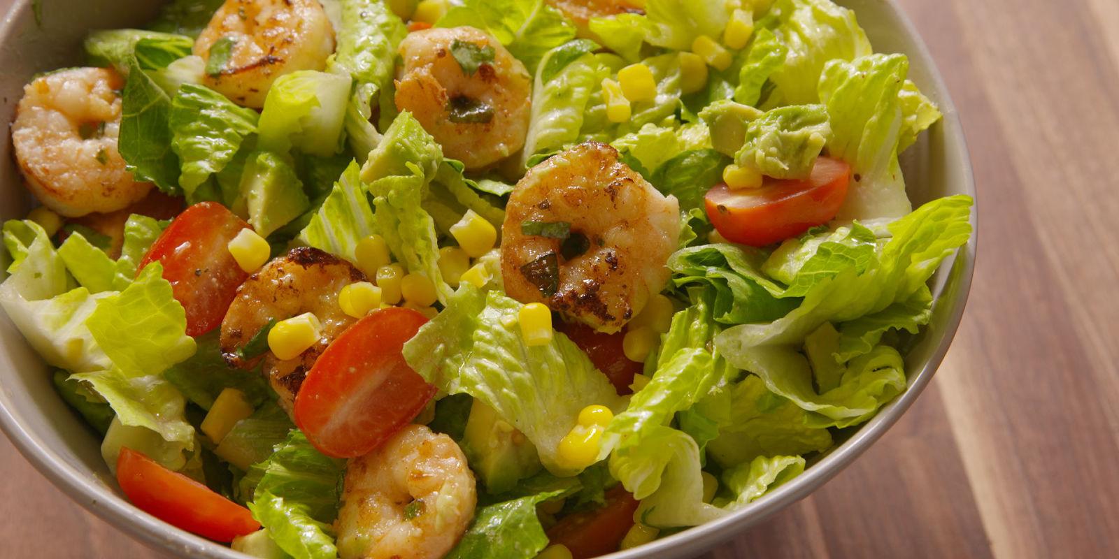 Best Shrimp Taco Salad Recipe - How To Make Shrimp Taco Salad