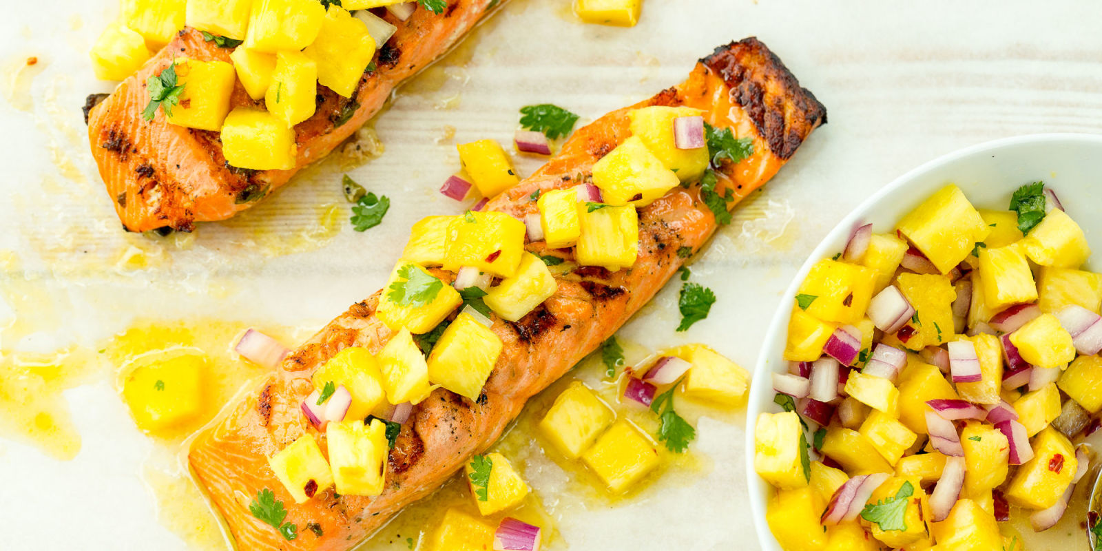 Best Grilled Salmon with Pineapple Salsa Recipe - Delish.com