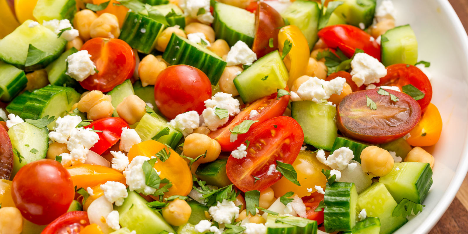 Tomato Cucumber Feta Salad Recipe - How To Make Tomato Cucumber Feta ...
