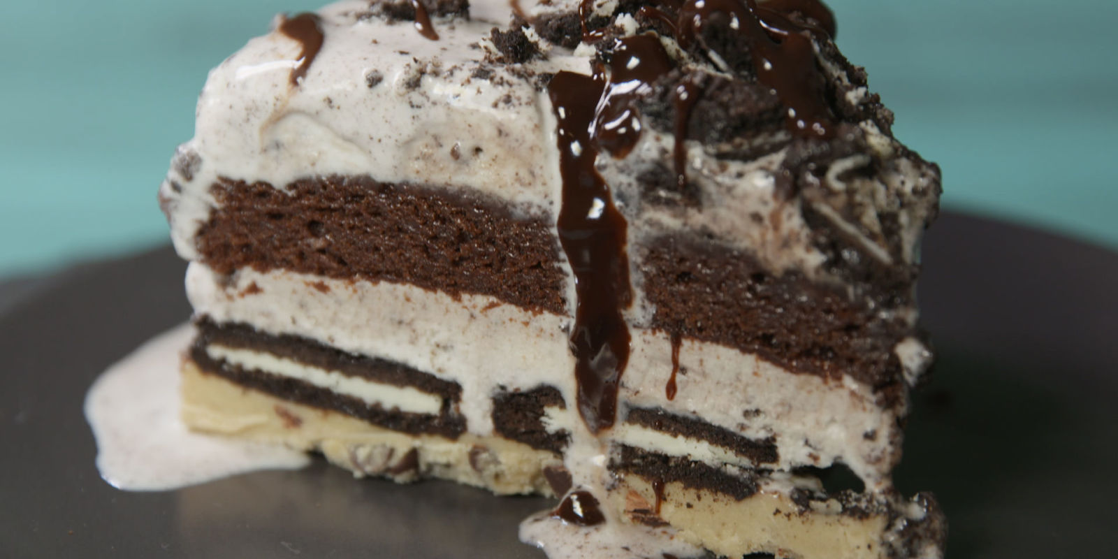 Slutty Brownie Ice Cream Cake - Slutty Brownie Cake