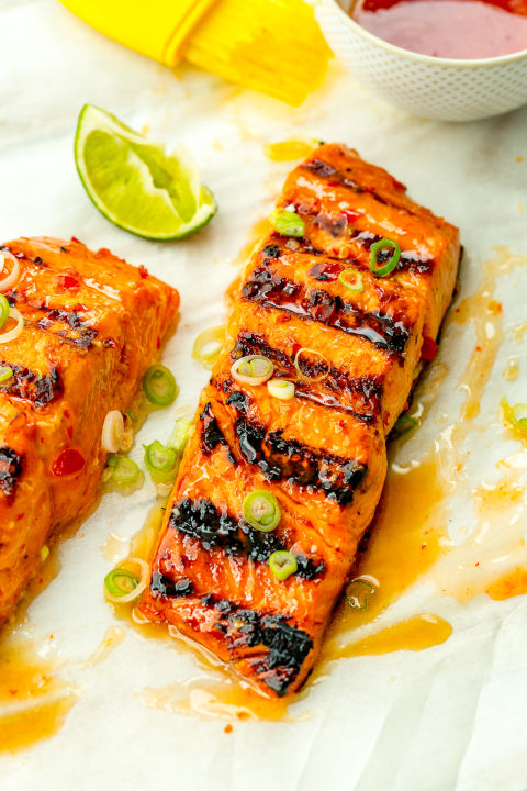 Salmon steaks on the grill recipes