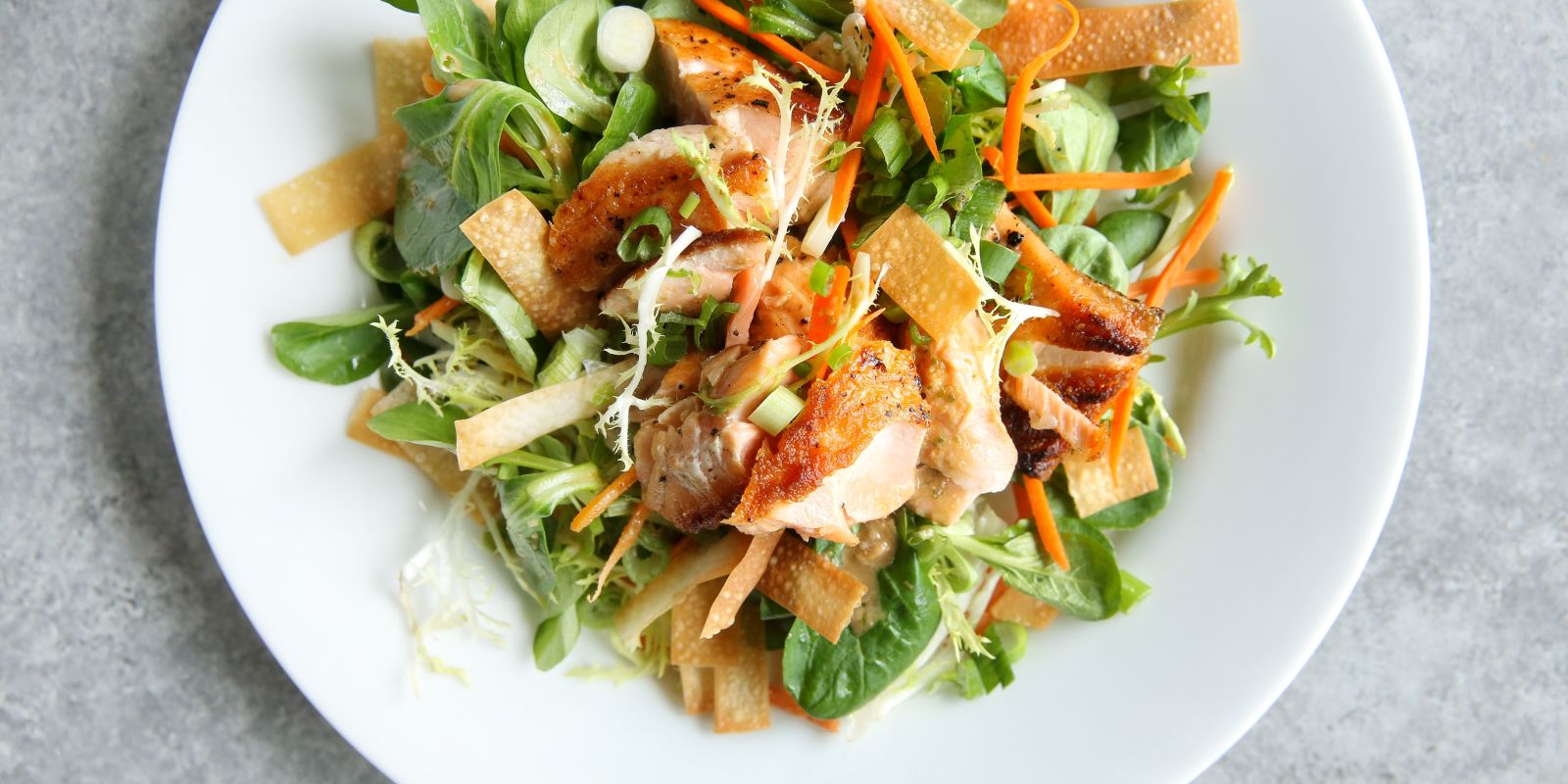 Best Sesame Ginger Salmon Salad Recipe - Delish.com
