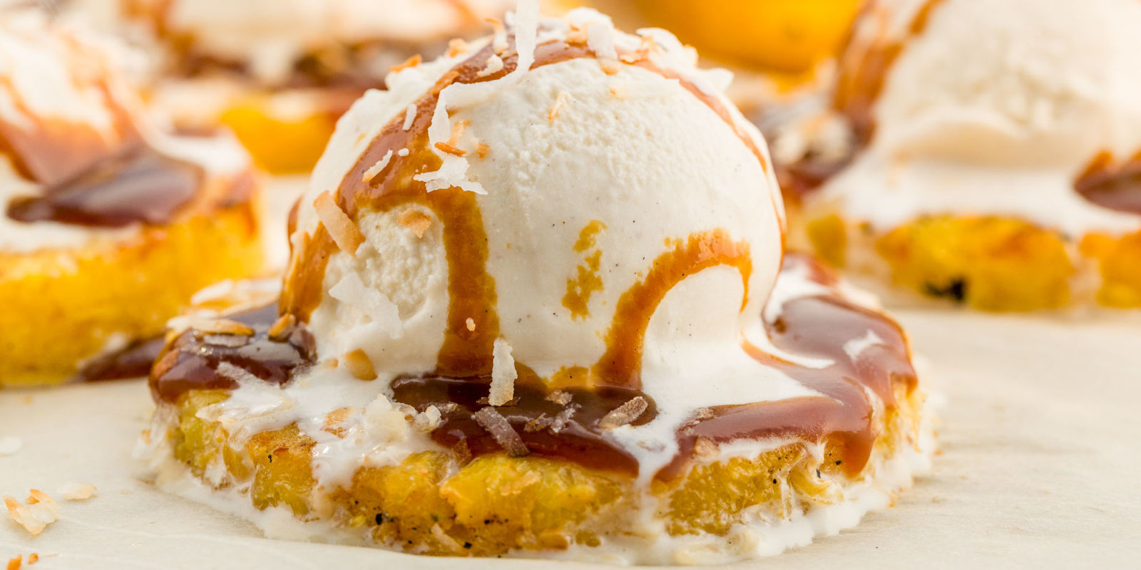 Pineapple Upside Down Cake Sundaes Recipe