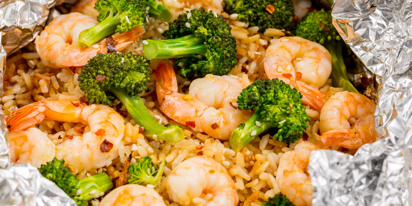 Best Shrimp, Broccoli and Rice Foil Packs Recipe - Grill Recipes ...