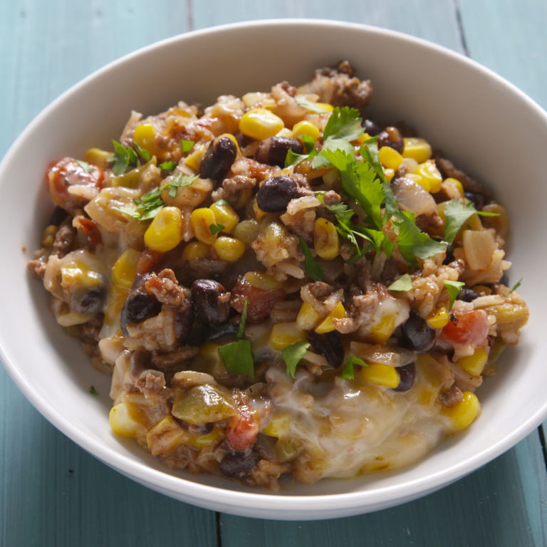 Best Mexican Beef 'N Rice Skillet Recipe - How to Make ...