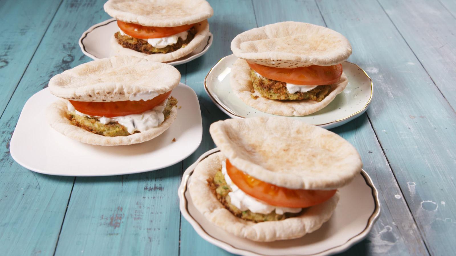 Best Falafel Burgers Recipe - How To Make Falafel - Delish.com