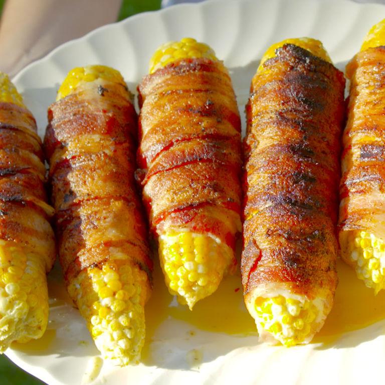 Bacon Wrapped Corn - Bacon Corn on the Cob