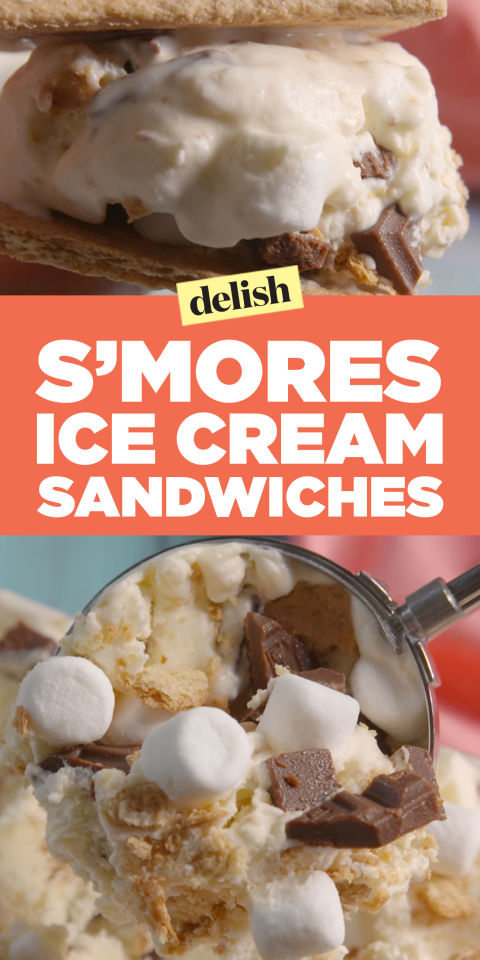mores Ice Cream Sandwiches Recipe - How to Make S'mores Ice Cream ...