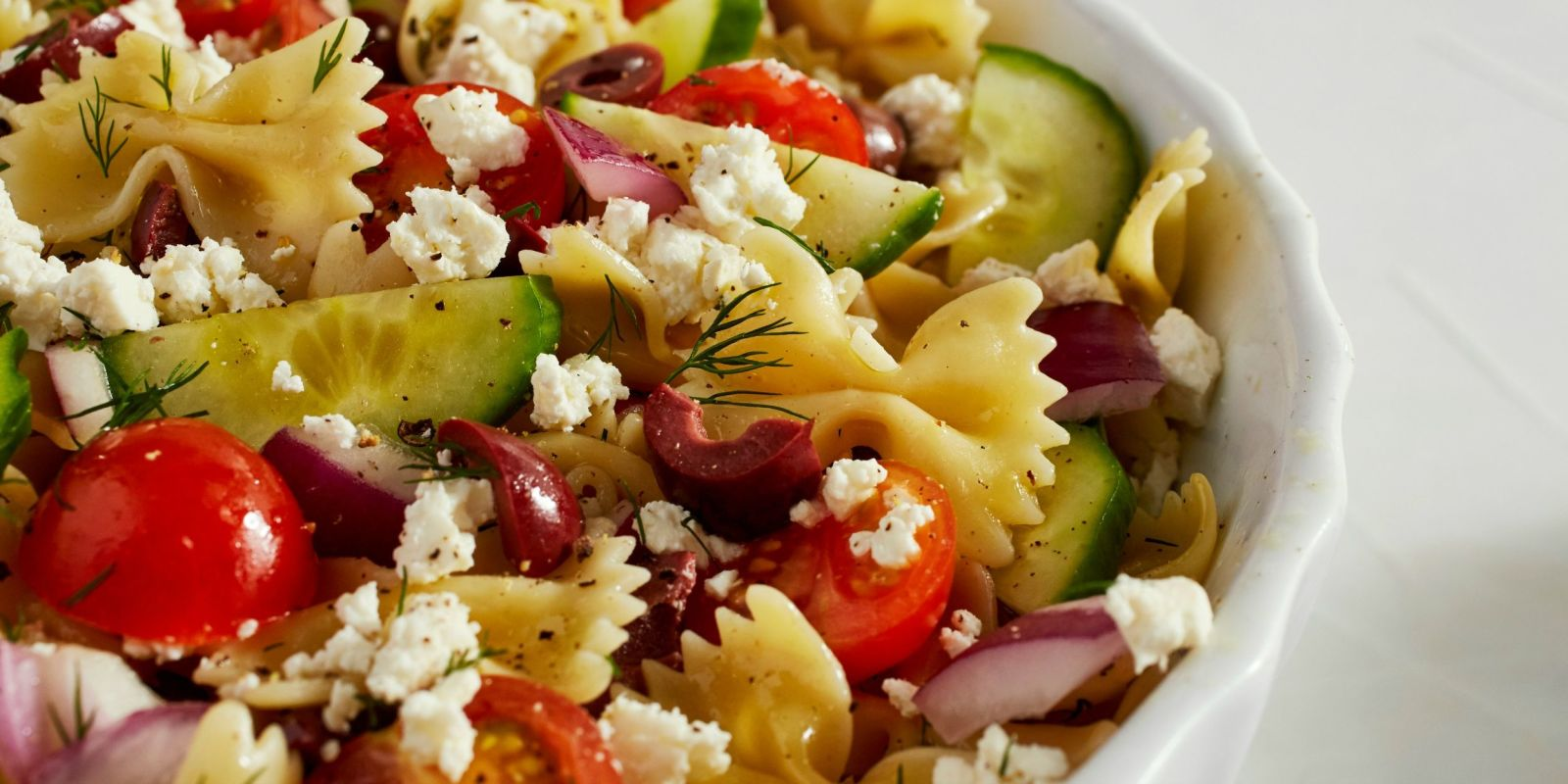 Best Greek Pasta Salad Recipe - How To Make Greek Pasta Salad