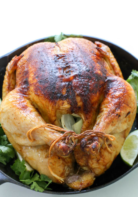 how to cook whole chicken in oven video