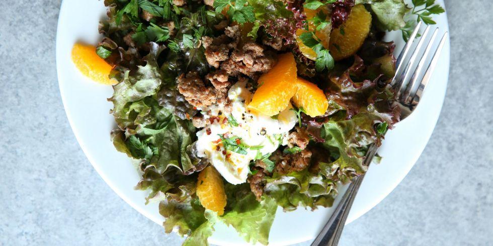 Crispy Sausage and Burrata Salad Recipe