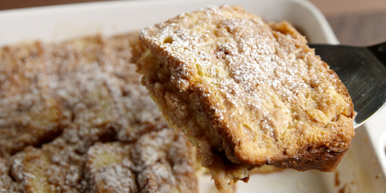 Cinnamon Swirl French Toast Casserole - Baked French Toast