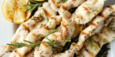 Best Lemon-Rosemary Chicken Kebabs Recipe - How To Make Kabobs ...