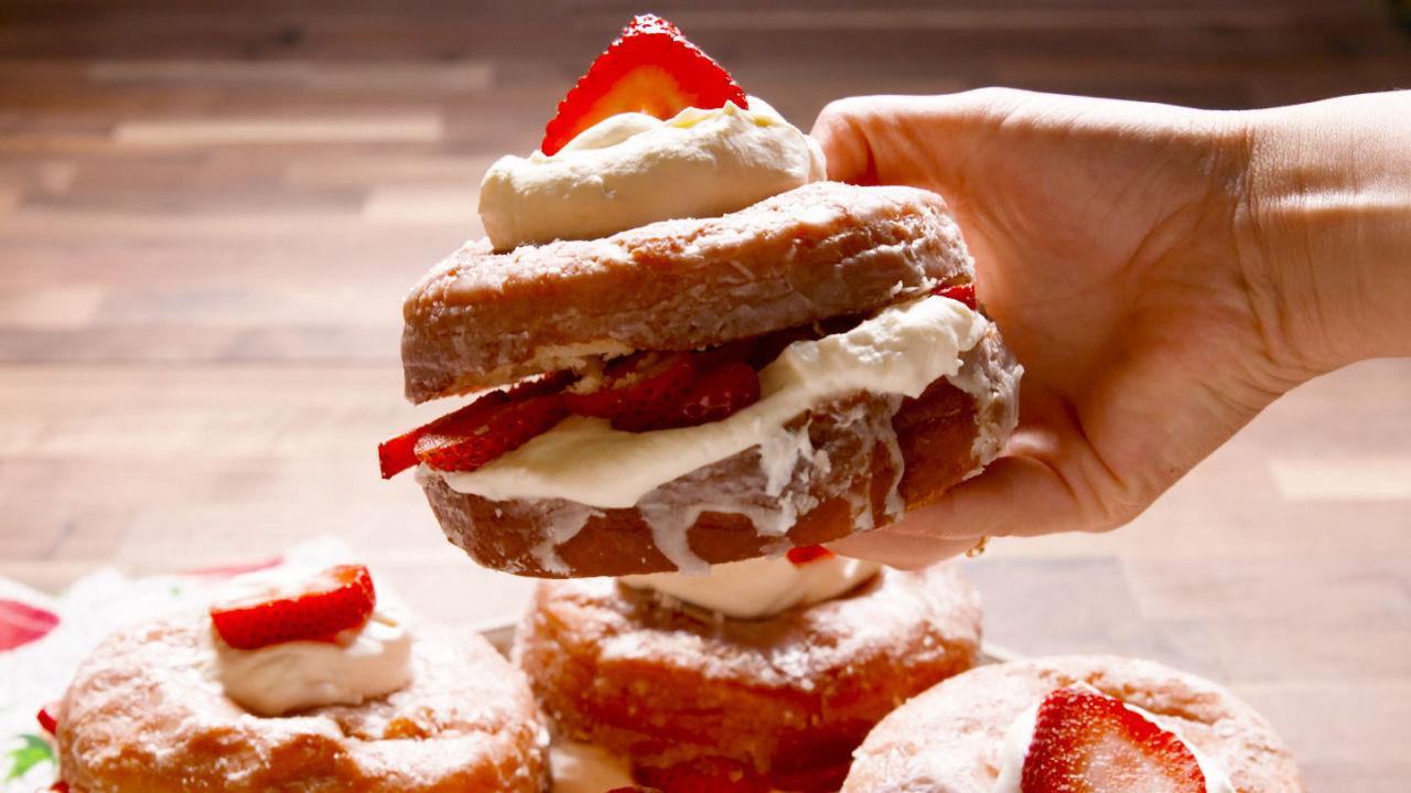 Donut Shortcake - Strawberry Shortcake Recipe