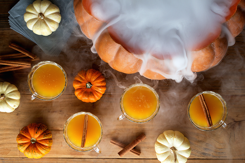 dry ice punch - Easy Alcoholic Halloween Punch