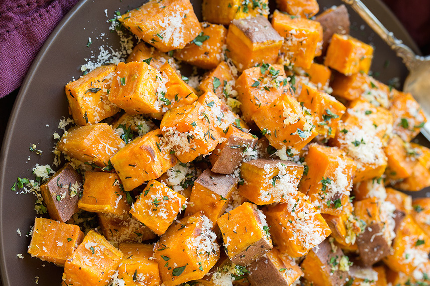 19 best roasted sweet potato recipes how to roast sweet potatoes roasted sweet potatoes ccuart Gallery