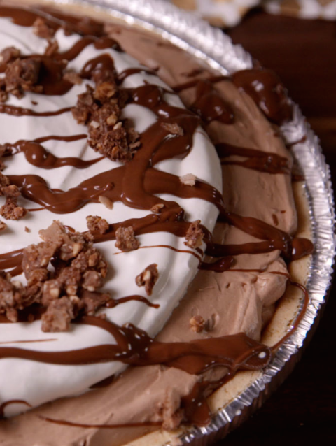 Nutella Cool Whip Pie Vertical