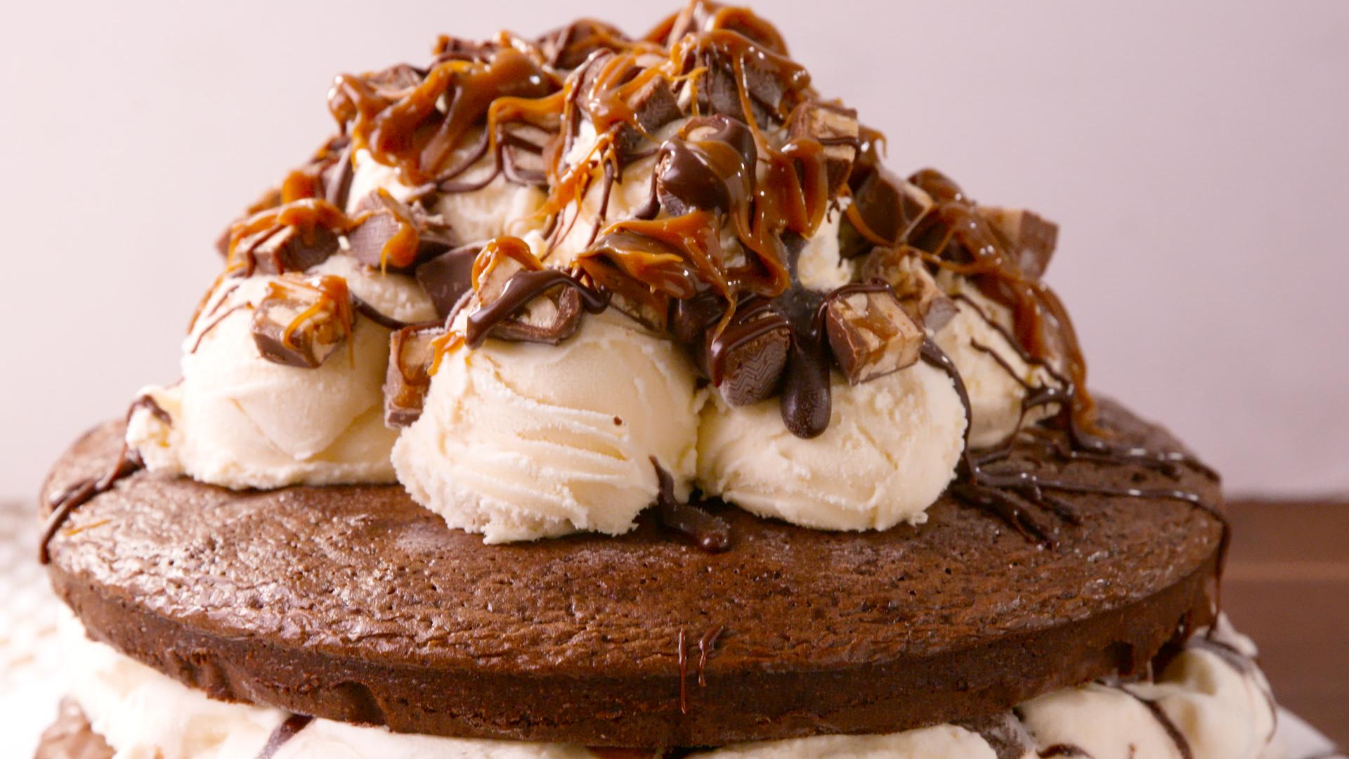 how to make ice cream cake recipe