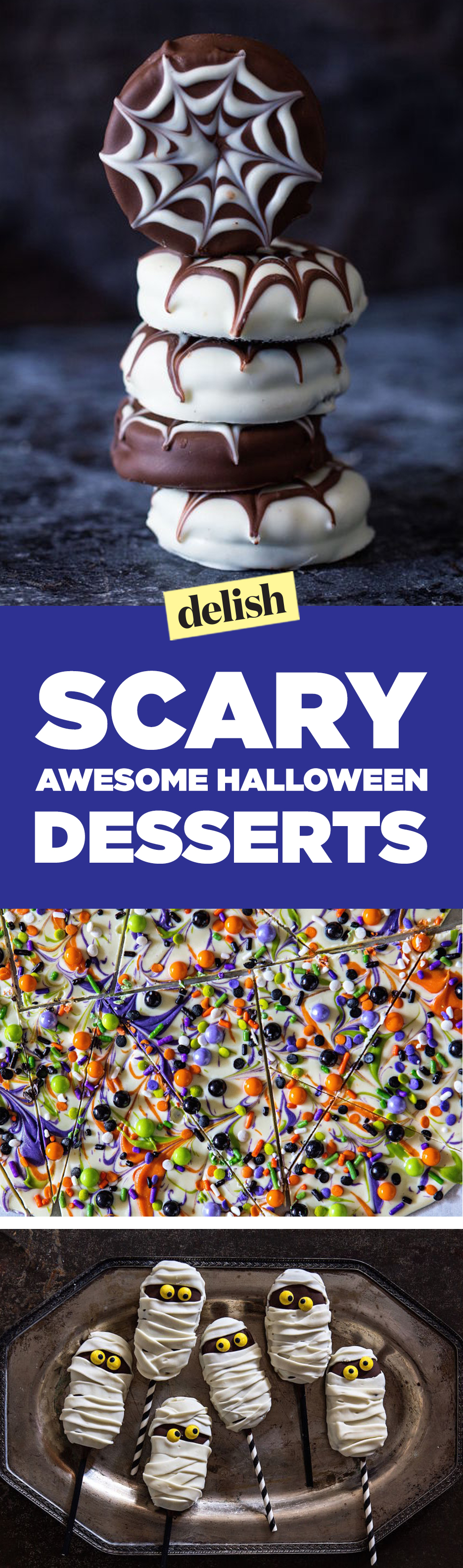 50 easy halloween desserts recipes for halloween party dessert ideasdelishcom - Best Halloween Dessert Recipes