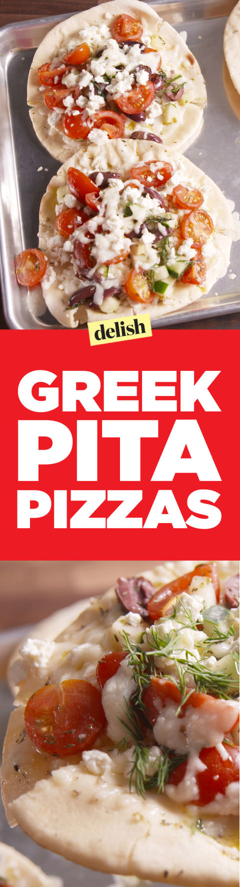 Best Greek Pita Pizzas Recipe - How to Make Greek Pita Pizzas