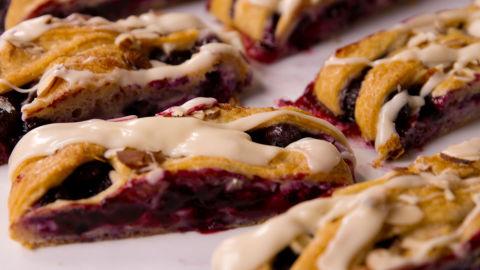 Blueberry Breakfast Braid Pieces