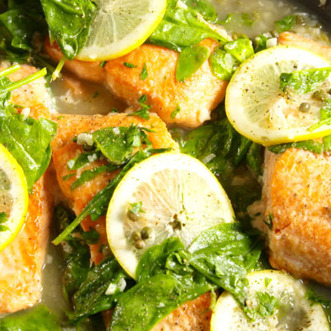 Garlic Lemon Salmon Vertical