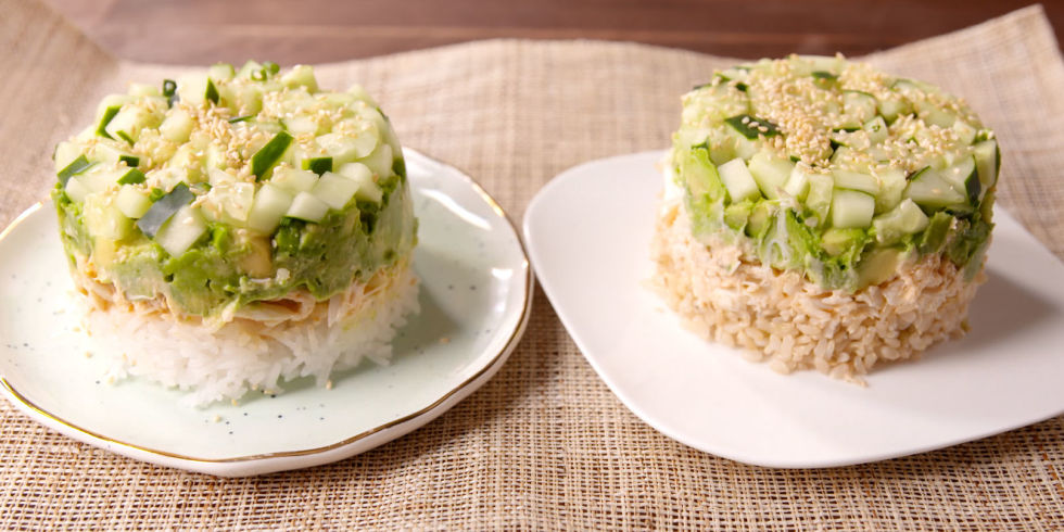 20 easy japanese food recipes how to make homemade japanese food delish california roll stack 3 forumfinder Gallery