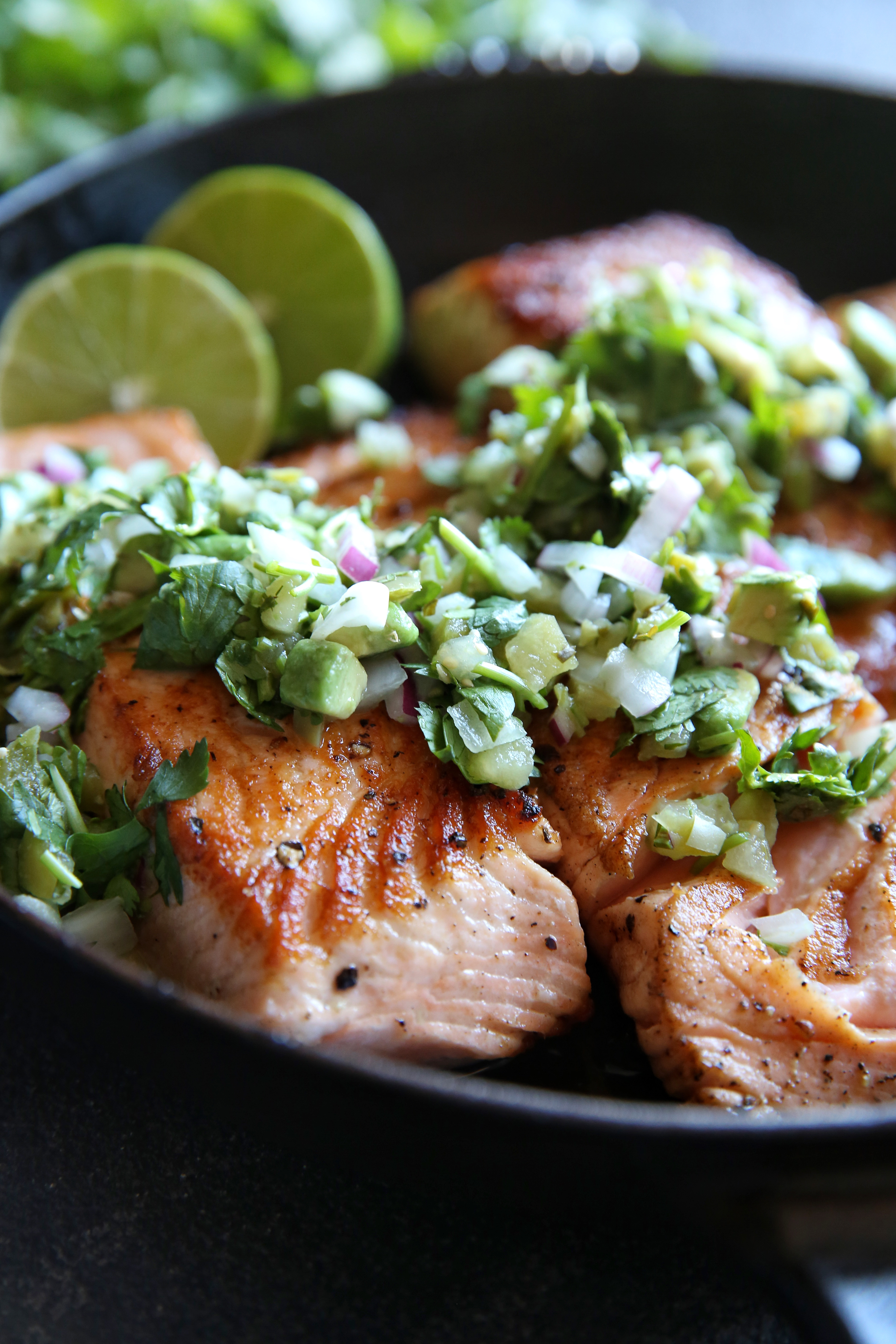 recipes dinner summer dinners recipe easy seafood fish cooking salsa verde salmon food avocado seared simple healthy delish