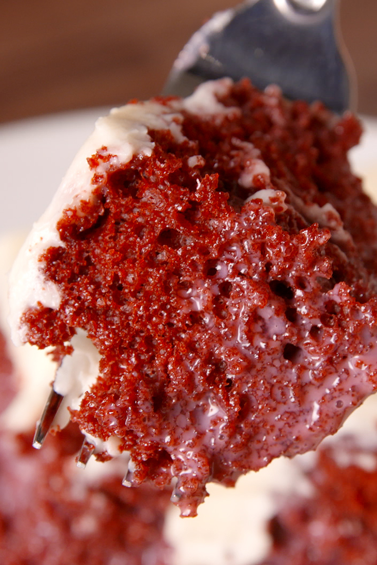 Red Velvet Poke Cake Delish
