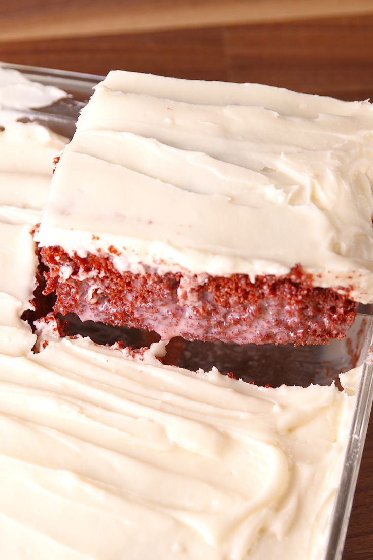 Recipe For Christmas Red Velvet Poke Cake