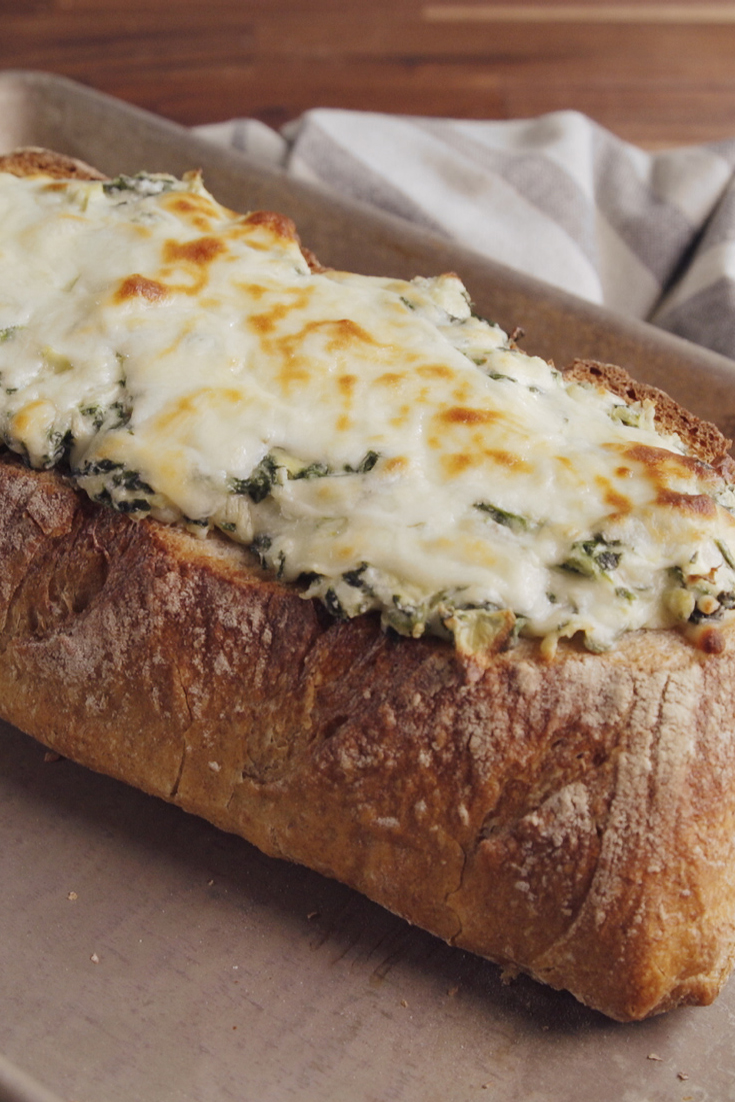 Best Artichoke Dip Stuffed Bread Recipe Delish Com