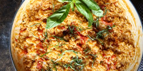 Cheesy Sun-Dried Tomato Risotto Recipe