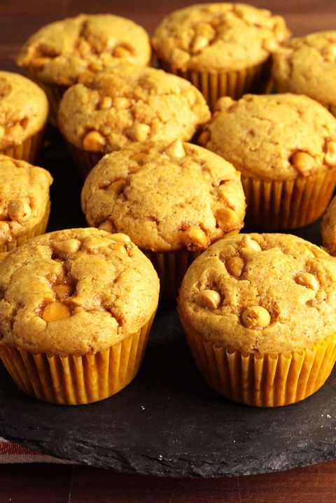 pumpkin butterscotch muffin