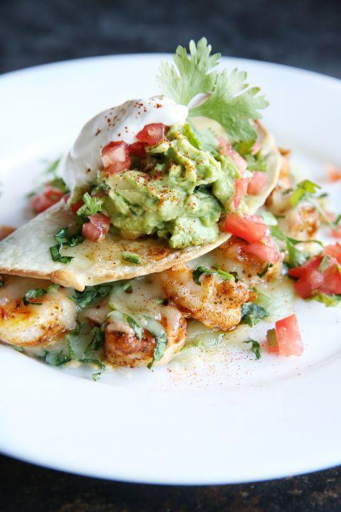 how to make easy shrimp quesadillas