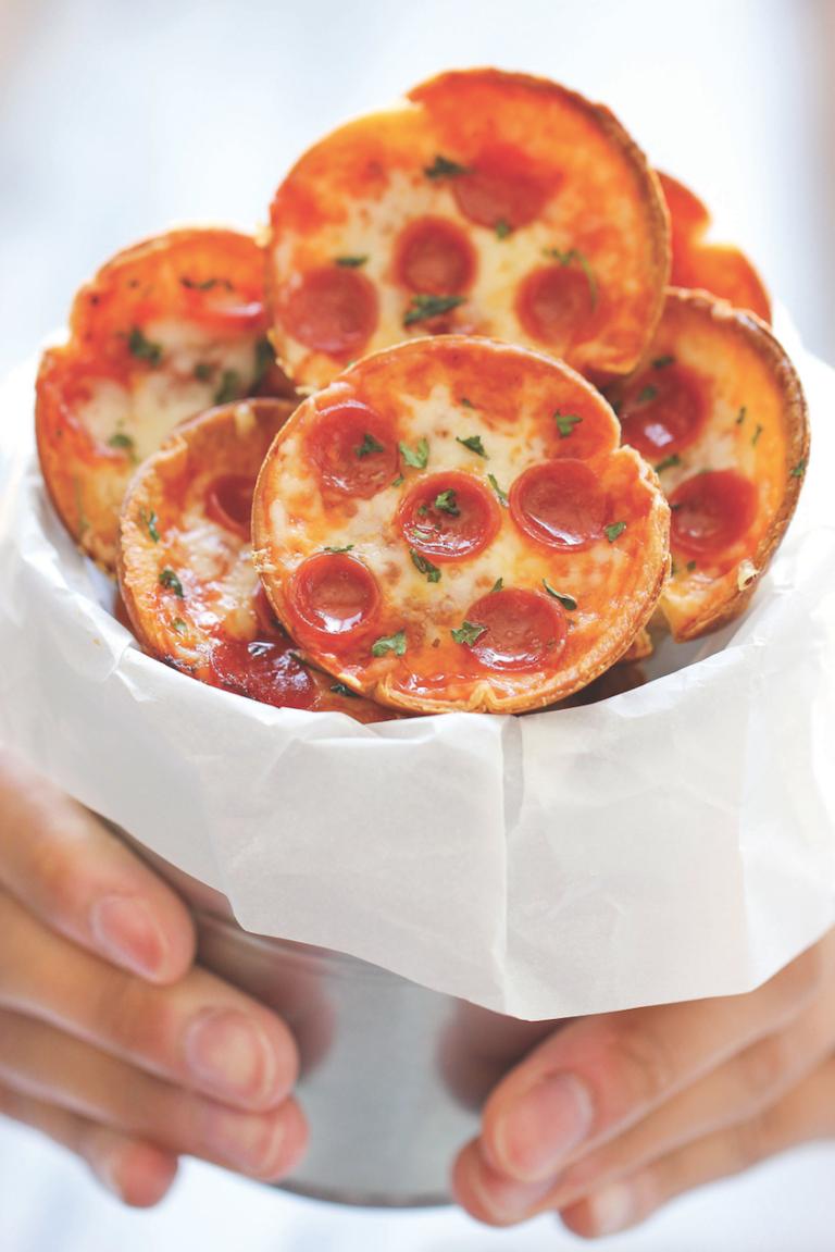 Mini Deep-Dish Pizzas