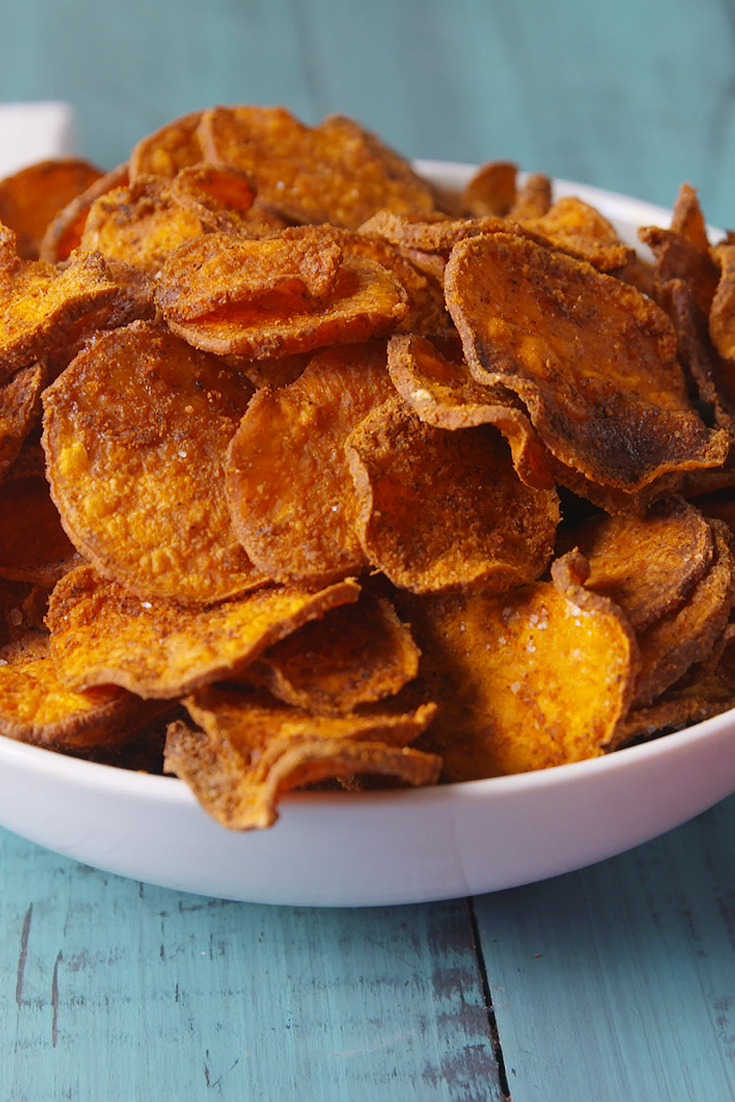 Best baked sweet potato chips recipe how to make sweet potato best baked sweet potato chips recipe how to make sweet potato chips in the oven delish forumfinder Gallery