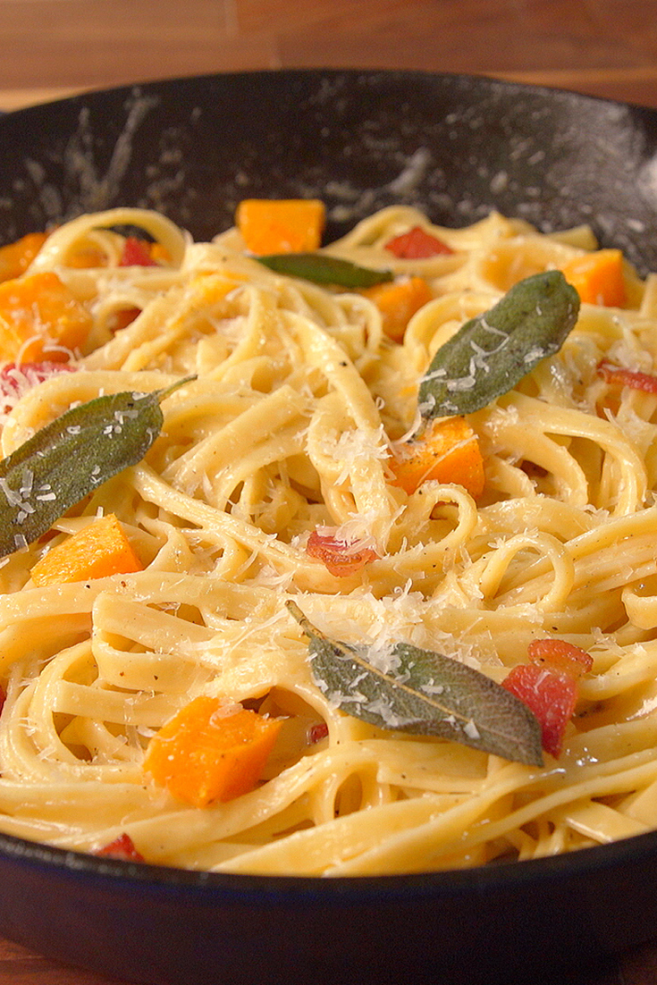 Best Butternut Squash Bacon Pasta Recipe How To Make Butternut Squash Bacon Pasta Delish Com