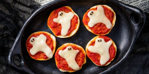 Pizza Ghost Bagels