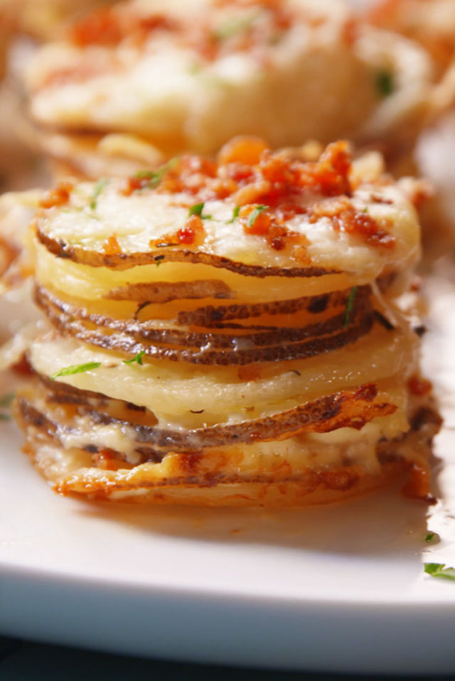 potato gratin stacks