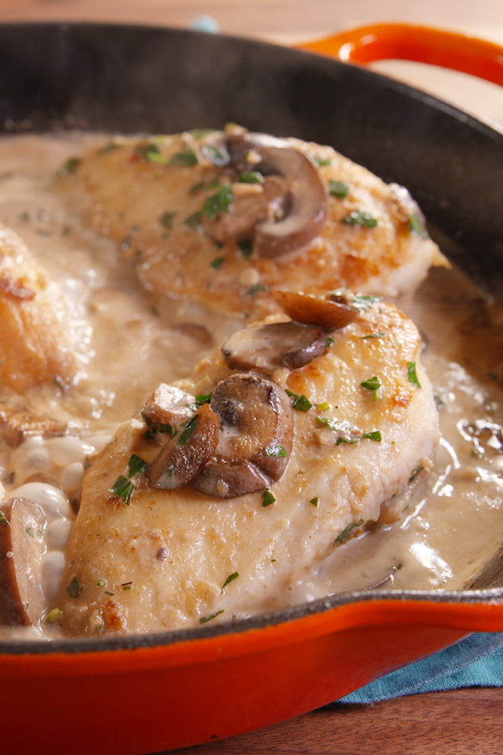 Easy Chicken Marsala Recipe - How To Make Creamy Chicken ...