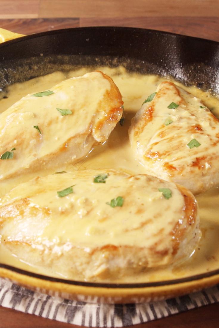 Best Creamy Dijon Chicken Recipe How To Make Creamy Dijon Chicken Delish Com